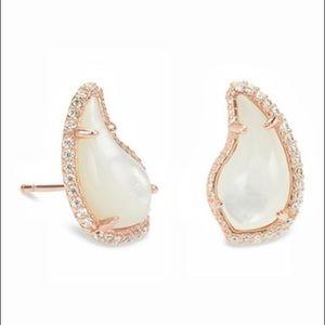 Kendra Scott 14K RoseGold Mother-of-Pearl Earrings